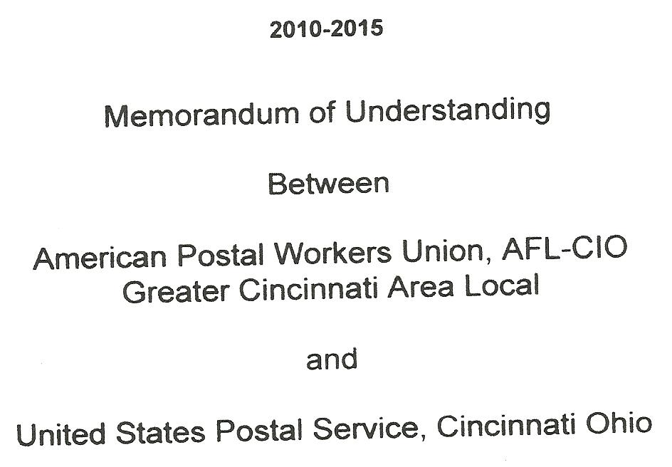 Apwu Greater Cincinnati Area Local 164